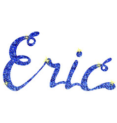 Eric name lettering tinsels vector