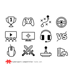 Esport competition icons vector