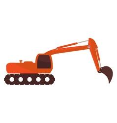 excavator on white background vector image