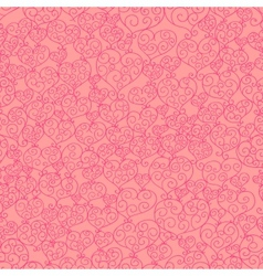 Fancy hearts seamless pattern vector