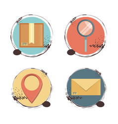 Fast delivery set icons travel ilustration vector