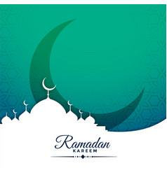 festival card design for ramadan kareem season vector image