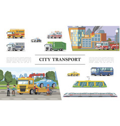 flat city transport concept vector image