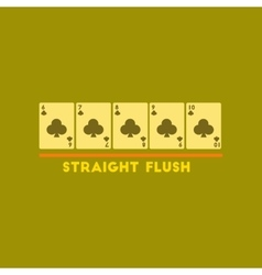 flat icon on stylish background straight flush vector image