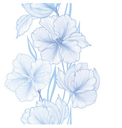 floral seamless background flower bouquet border vector image