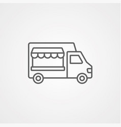 food truck icon sign symbol vector image