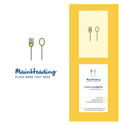 fork and spoon creative logo and business card vector image