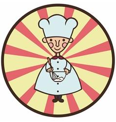 funny cook cartoon vector image