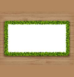 garland frame made green leaves vector image