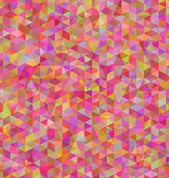 geometric disorder colorful triangles vector image