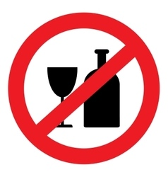 Icon banning alcohol vector image