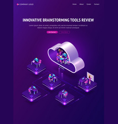 innovative brainstorming tools review banner vector image