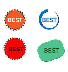 Label with inscription best price on white vector