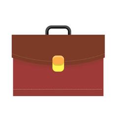 leather briefcase logo icon vector image
