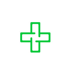 Logo cross health vector