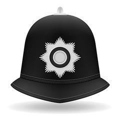 london police helmet vector image
