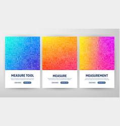 Measurement flyer concepts vector