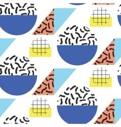 Memphis retro 80s seamless pattern vector image
