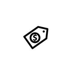 money template icon isolated vector image