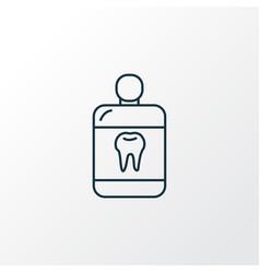 Mouthwash icon line symbol premium quality vector