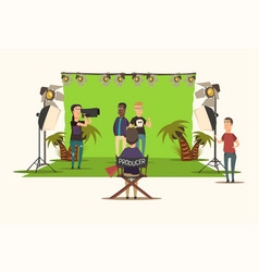 movie making composition vector image