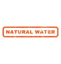 Natural water rubber stamp vector