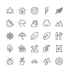 Nature cool icons 2 vector