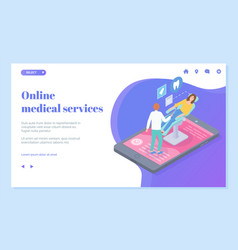 Online dentistry service dentist vector