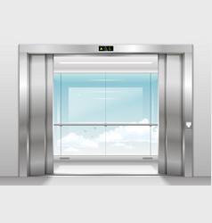 Outdoor panoramic elevator vector