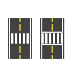 Pedestrian crossing on road vector