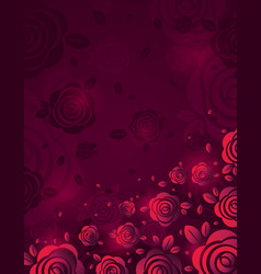 Pink background with fiery rose vector