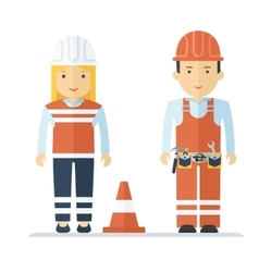profession worker man and woman vector image