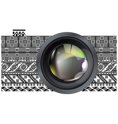 Professional photo lens vector