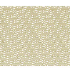 Seamless geometric ornament golden color thin vector