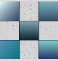 seamless rain water drops and splash pattern vector image