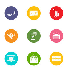 send the message icons set flat style vector image