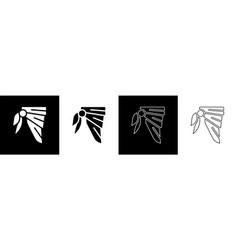 Set bandana or biker scarf icon isolated on black vector