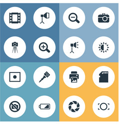 set of simple photography vector image