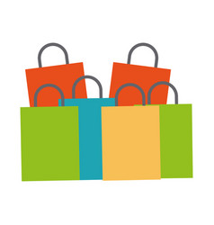 shopping bags concept vector image