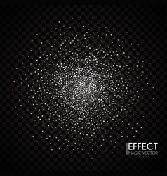 silver particles abstract magic dust vector image
