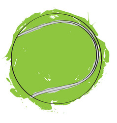 sketch of a tennis ball vector image