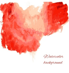 Soft watercolor on white background vector image