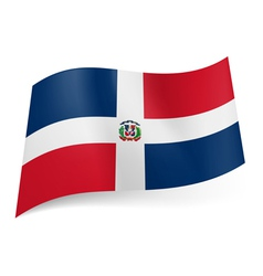 State flag of Dominican Republic vector