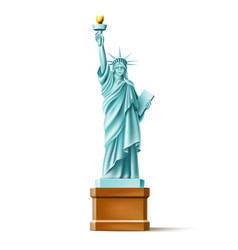 statue of liberty monument in america vector image