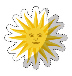 Sun uruguayan emblem flag vector