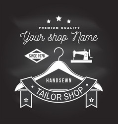 tailor shop badge concept for print vector image