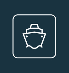 tanker outline symbol premium quality isolated vector image