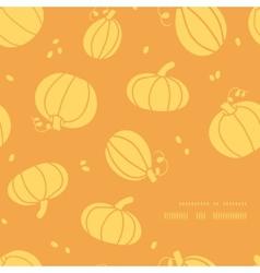Thanksgiving golden pumpkins frame corner pattern vector