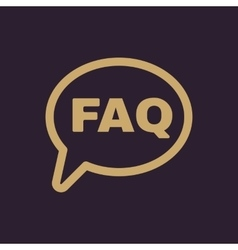 The faq speech bubble icon Help symbol Flat vector image