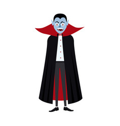 The vampire holiday halloween character vector